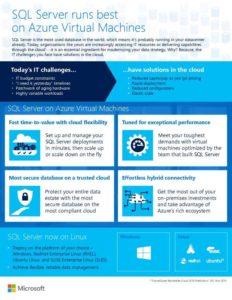 SQL Server runs best on Azure Virtual Machines
