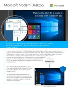 Making the shift to a modern desktop with Microsoft 365